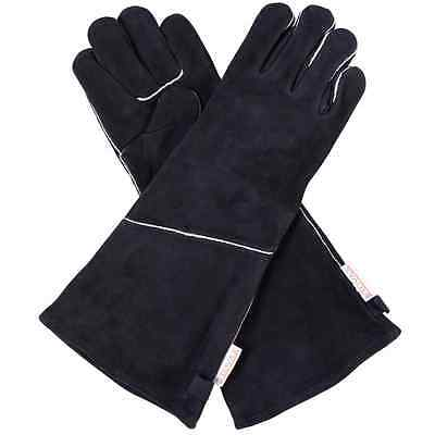X Long Stovax Heat Resistant Leather Gloves Stove logs coals fireplace wood 43cm