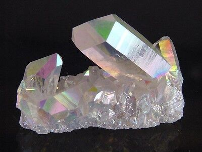 BUTW Angel Aura Fume Plated Natural Quartz Healing Crystal Cluster Reiki 8416K