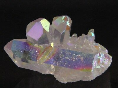 BUTW Angel Aura Fume Plated Natural Quartz Healing Crystal Cluster Reiki 8428K
