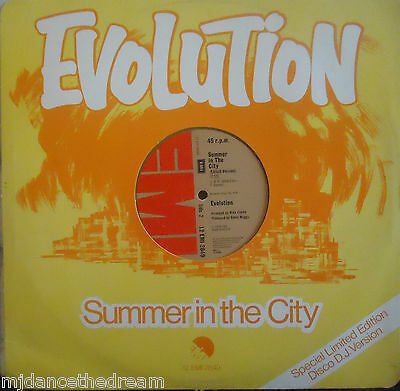 "EVOLUTION ~ Summer In The City ~ 12"" Single PS YELLOW VINYL"