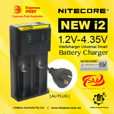Nitecore new I2 Intellicharger 2channel Universal Battery Charger 18650 AA/AAA