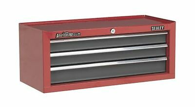 Sealey Mid-Box 3 Drawer with Ball Bearing Runners Red/Grey AP22309BB