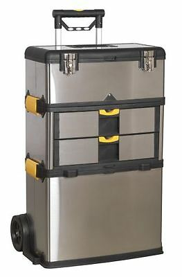 Sealey Mobile Stainless Steel/Composite Tool Box 3 Compartment AP855