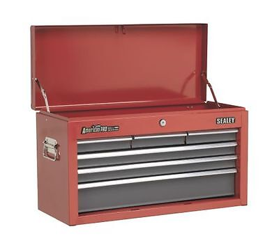 Sealey Topchest 6 Drawer with Ball Bearing Runners Red/Grey AP2201BB