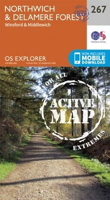 OS Explorer Map Active (267) Northwich and Delamere Forest (OS Explorer Active .