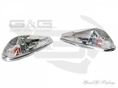 Fairing indicator Drops Chrome Indicator Universal for Conversions Rear passage