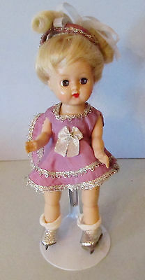 """Cute 8"""" Cosmopolitan Ginger Doll Wearing Ice Skating Outfit"""