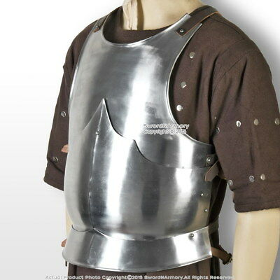 XL Size Medieval 15th Century Body Armor Breast Plate 18G Steel LARP Costume