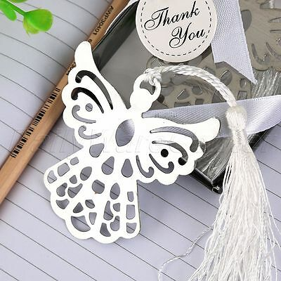 Silver Guardian Angel Bookmark Wedding Baby Shower Christmas Party Favor Gifts