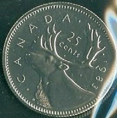 1983-PL Proof-Like Quarter 25 Cent '83 Canada/Canadian BU Coin Un-Circulated