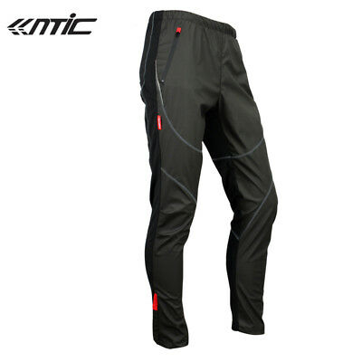 Santic Cycling Fleece Thermal Wind Pants Winter Pants Tights-James Black