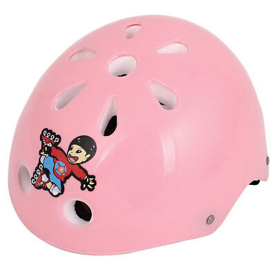 Plastic Adjustable Strap 11 Holes Bicycle Cycling Helm Helmet Pink for Kids