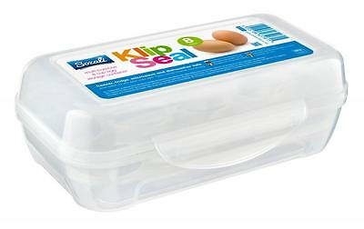 Klip Seal BPA Free 8 Cup Tray Egg Eggs Food Storage Box Container