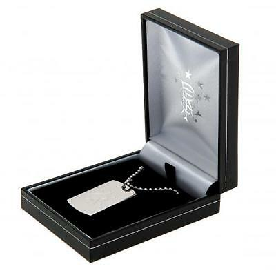 Rangers Fc Engraved Crest Dog Tag & Chain In Gift Box Football Team Present New