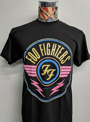Brand New Foo Fighters Since 95 '95 Black T Shirt Color Winged Ff Circular Logo