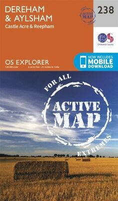 OS Explorer Map Active (238) East Dereham and Aylsham (OS Explorer Active Map) .