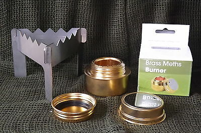 BRASS METHS STOVE - STAINLESS STEEL POT STAND Fits HIGHLANDER & TRANGIA MESS T