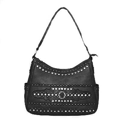 Horse & Western Ladies Womens Montana West Crystal Studs Handbag Black