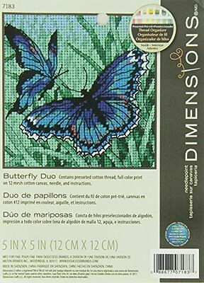 Dimensions Needle Point Kit; Butterfly Duo