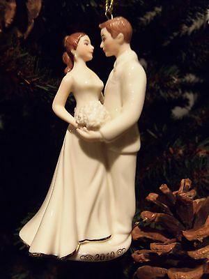 FREE S&H Lenox 2010 Bride and Groom Always and Forever Ornament New In Box