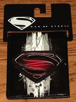"SUPERMAN WALLET ""Man Of Steel"" Black Authentic Licensed DC Comics NEW"
