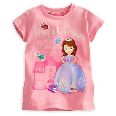 Disney Store Sofia The First Girls Tee T-Shirt Royal Prep Best Princess Nwt
