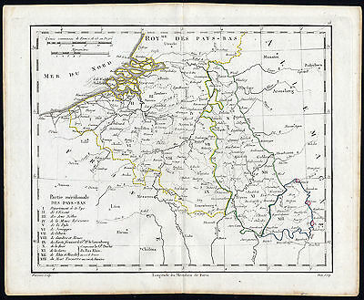 Antique Map-NETHERLANDS-BELGIUM-Vaugondy-1785