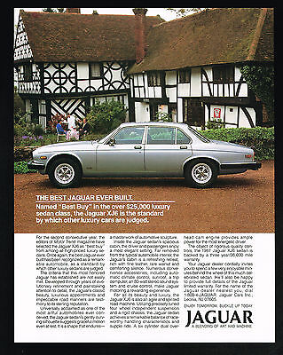 1987 Jaguar XJ6 Car Best Buy Luxury Sedan Vintage Photo Print Ad