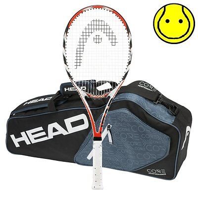 New MicroGel Radical MidPlus - Strung - with Core Pro 3 Racquet Tennis Bag