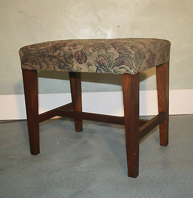 Quality Antique Georgian Walnut George111 stool dressing table needlepoint 1800