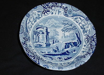 Spode Italian Design Blue & White Soup / Salad  Bowl Made In England Ec