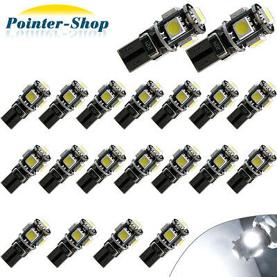 20 X CANBUS 6000K White T10 5050 LED Interior Dome Map Light Bulbs W5W 192 194