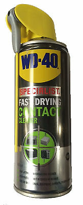WD-40 400ml Fast Drying Contact Cleaner Wide Nozzle + Needle Spray Smart Straw