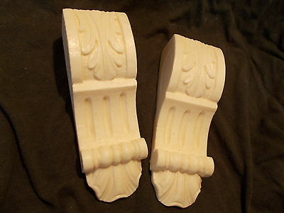 Small Ornate Decorative Plaster Underneath Shelf Fire~Place Corbels One Pair