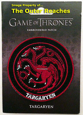 "Game of Thrones HOUSE OF TARGARYEN Dragon Sigil 3"" Official Embroidered Patch"