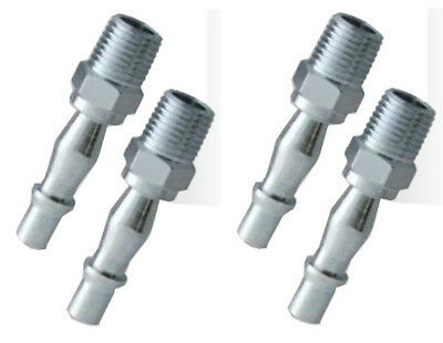 """Air Line Fitting BSP Bayonet Coupling 1/4"""" Male Airline Coupler Connector 4pc"""
