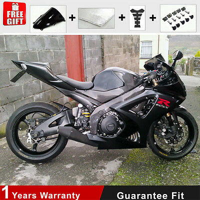 Injection Fairing 07 08 for Suzuki GSXR 1000 K7 K8 Bodywork Glossy Black Plastic