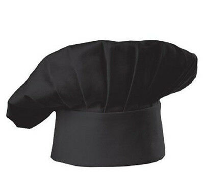Black Adult Chef Hat Kitchen Cooking Hats Comfortable Adjustable Simple Cotton