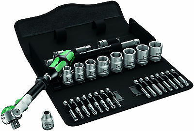 "Wera 004046 Zyklop Speed Metric 29 Piece Ratchet Socket Set 3/8"" Drive RDGTools"