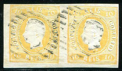 PORTUGAL 1866 18 TADELLOSES PAAR gest 400€++(Z2094