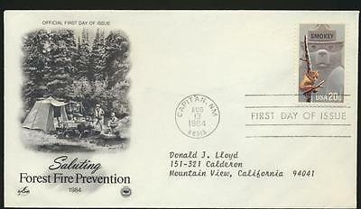 USA #2096 Smokey Bear Artcraft Variety PCS Forest Fires FDC addressed LOT 802
