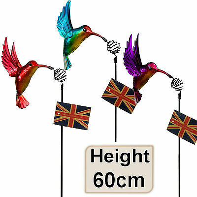 Metallic Hummingbird Bird Design Wind Garden Ornament Decoration Decor