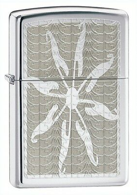 Personalised  Starfish High Polish Chrome Zippo Lighter Engraved Gift
