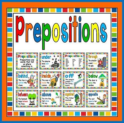 Cd Prepositions Posters Teaching Resources Display Literacy English Eyfs Ks 1-2