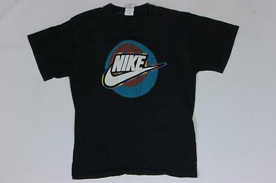 90s Vintage Nike Tag Swoosh Black Youth T Shirt XL