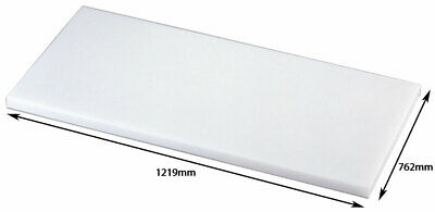 Premium Heavy Duty Plastic White Hdpe Cutting / Chopping Board,762X1219X25mm
