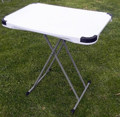 5 Position Blow Moulded Table 76x49cm White New Caravan Camping Home SY32SJ-3