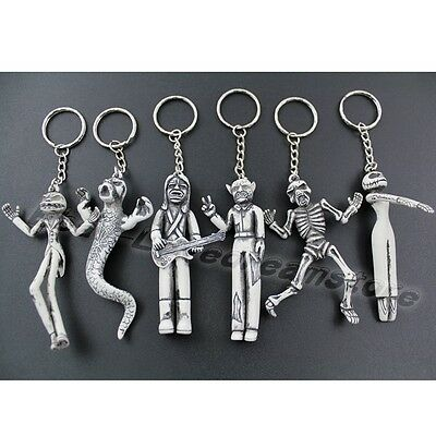 6x The Nightmare Before Christmas Jack/Sally 13cm Metal Key Ring Chain Set Loose