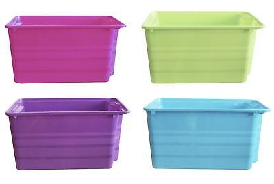 Stackable Rectangular Nesting Plastic Storage Toy Box Boxes Room Tidy