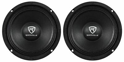 "(2) Rockville RM68PRO 6.5"" 400 Watt 8 Ohm SPL Mid-Bass Midrange Car Speakers"